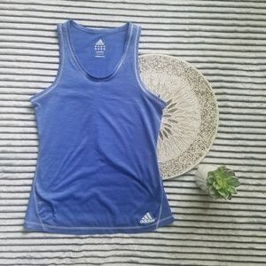 Adidas Blue White Athletic Tank Size Small